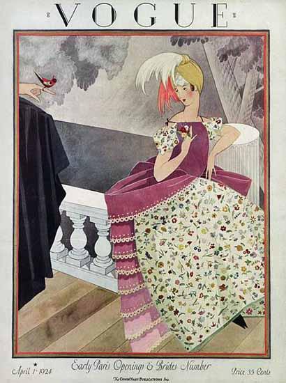Vogue Magazine Cover 1924-04-01 Copyright | Vogue Magazine Graphic Art Covers 1902-1958