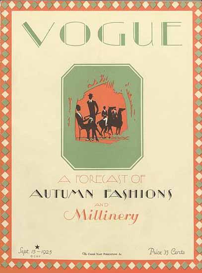Vogue Magazine Cover 1925-09-15 Copyright | Vogue Magazine Graphic Art Covers 1902-1958