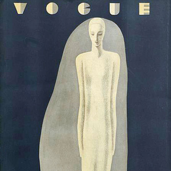 Vogue Magazine Cover 1930-02-15 Copyright crop | Best of Vintage Cover Art 1900-1970