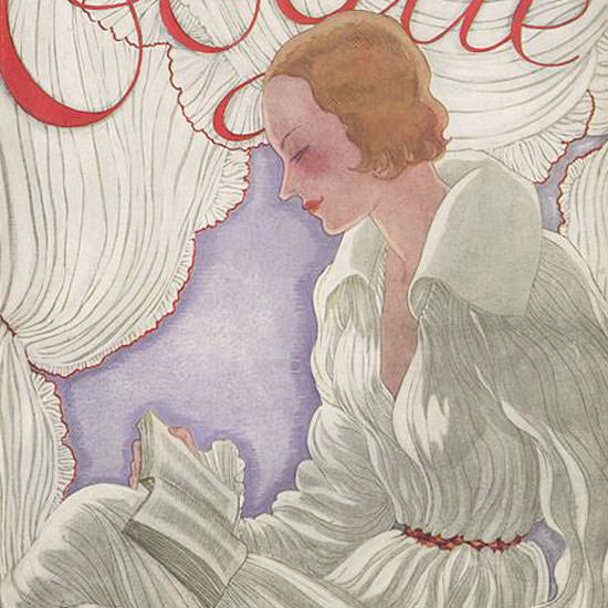 Vogue Magazine Cover 1931-05-15 Copyright crop | Best of 1930s Ad and Cover Art