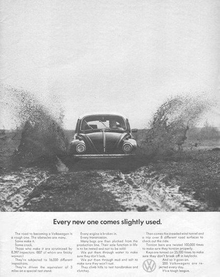 Volkswagen VW Comes Slightly Used 1968 | Vintage Cars 1891-1970