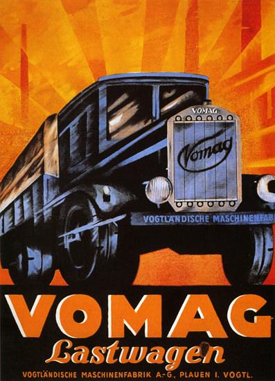 Vomag Lastwagen Plauen   Vintage Cars 1891-1970