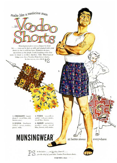 Voodoo Shorts Like A Medicine Man Munsingwear | Sex Appeal Vintage Ads and Covers 1891-1970