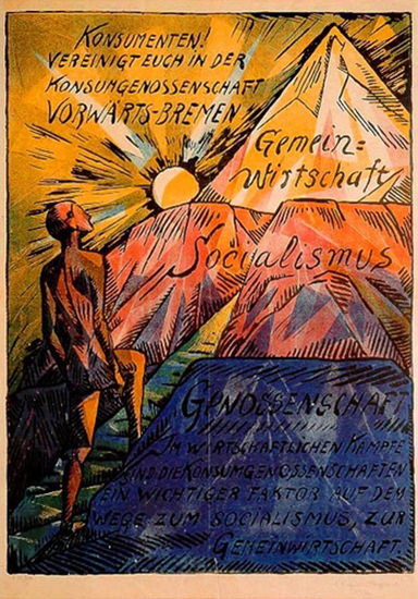 Vorwaerts Bremen Socialismus 1920 | Vintage War Propaganda Posters 1891-1970