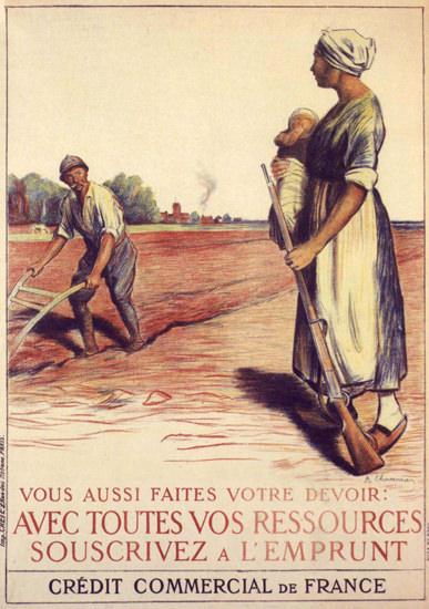 Vous Aussi Faites Votre Devoir France War Bonds | Vintage War Propaganda Posters 1891-1970