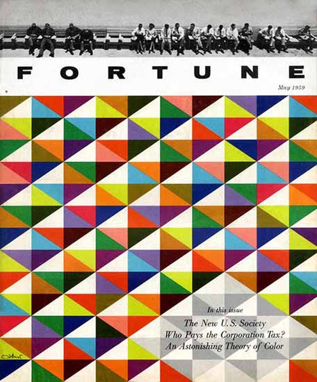 W Allner Fortune Magazine May 1959 Copyright | Fortune Magazine Graphic Art Covers 1930-1959