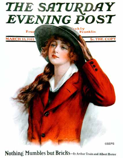 WH Coffin Cover Artist Saturday Evening Post 1915_03_13 | The Saturday Evening Post Graphic Art Covers 1892-1930