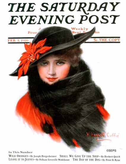 WH Coffin Cover Artist Saturday Evening Post 1916_02_05   The Saturday Evening Post Graphic Art Covers 1892-1930