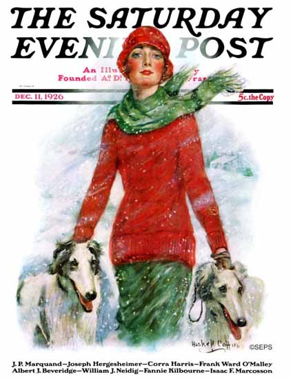 WH Coffin Cover Artist Saturday Evening Post 1926_12_11 | The Saturday Evening Post Graphic Art Covers 1892-1930