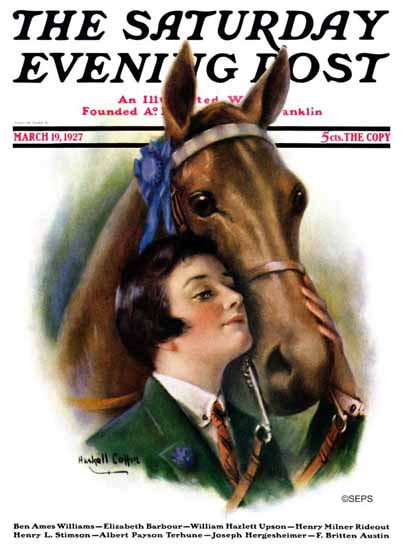 WH Coffin Cover Artist Saturday Evening Post 1927_03_19 | The Saturday Evening Post Graphic Art Covers 1892-1930