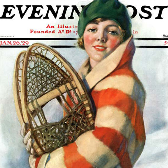 WH Coffin Cover Artist Saturday Evening Post 1929_01_26 Copyright crop | Best of Vintage Cover Art 1900-1970