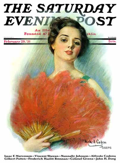 WH Coffin Cover Artist Saturday Evening Post 1931_02_28   The Saturday Evening Post Graphic Art Covers 1931-1969
