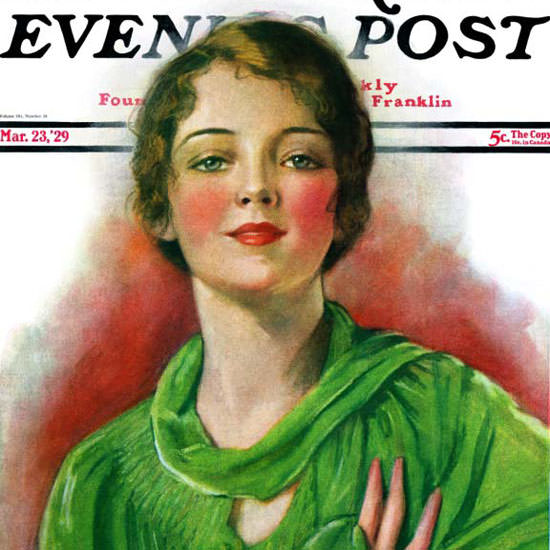 WH Coffin Saturday Evening Post 1929_03_23 Copyright crop | Best of Vintage Cover Art 1900-1970
