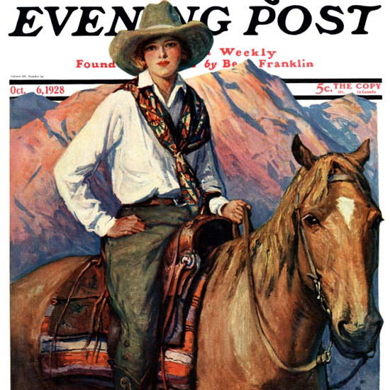 WHD Koerner Saturday Evening Post 1928_10_06 Copyright crop | Best of Vintage Cover Art 1900-1970