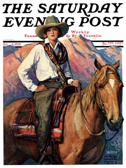 WHD Koerner Saturday Evening Post 1928_10_06 | The Saturday Evening Post Graphic Art Covers 1892-1930