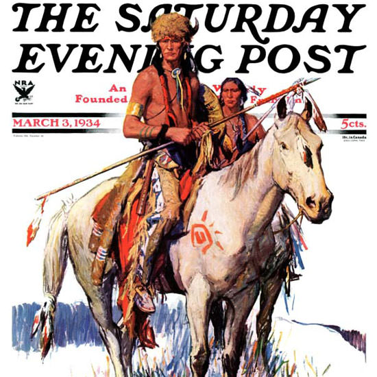 WHD Koerner Saturday Evening Post Plains 1934_03_03 Copyright crop | Best of Vintage Cover Art 1900-1970