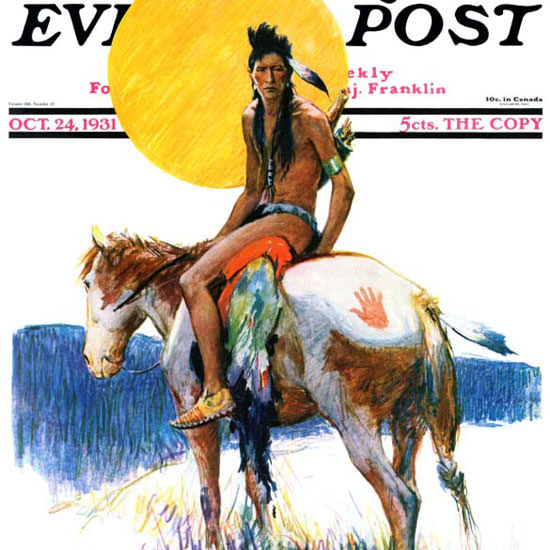 WHD Koerner Saturday Evening Post Pony 1931_10_24 Copyright crop | Best of Vintage Cover Art 1900-1970