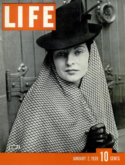 WIMPLE 2 Jan 1939 Copyright Life Magazine   Life Magazine BW Photo Covers 1936-1970