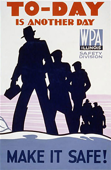 WPA Illinois To-Day Is Another Day | Vintage Ad and Cover Art 1891-1970