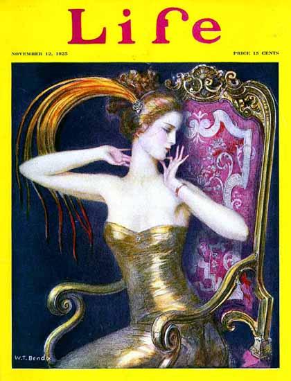 WT Benda Life Humor Magazine 1925-11-12 Copyright | Life Magazine Graphic Art Covers 1891-1936