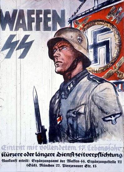 Waffen SS mit Vollendetem 17 Lebensjahr | Vintage War Propaganda Posters 1891-1970