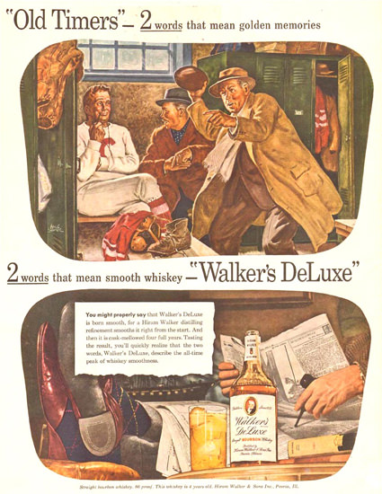 Walkers DeLuxe Football Old Timers 1944 | Vintage Ad and Cover Art 1891-1970