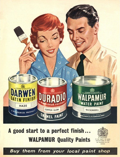 Walpamur Quality Paints A Good Start | Sex Appeal Vintage Ads and Covers 1891-1970