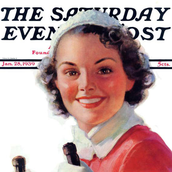 Walt Otto Saturday Evening Post Go Downhill 1939_01_28 Copyright crop | Best of 1930s Ad and Cover Art