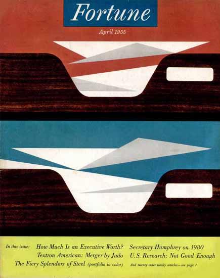 Walter Allner Fortune Magazine April 1955 Copyright | Fortune Magazine Graphic Art Covers 1930-1959