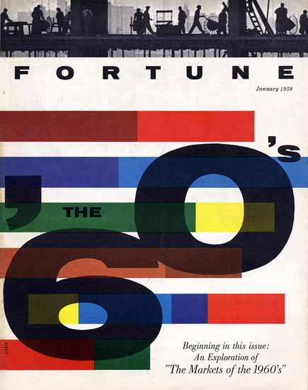 Walter Allner Fortune Magazine January 1959 Copyright | Fortune Magazine Graphic Art Covers 1930-1959