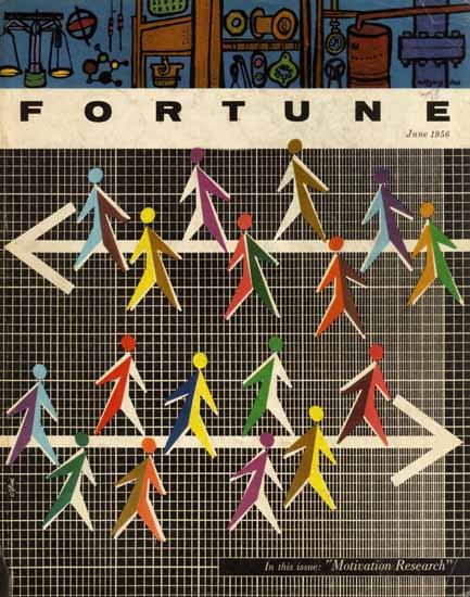 Walter Allner Fortune Magazine June 1956 Copyright | Fortune Magazine Graphic Art Covers 1930-1959