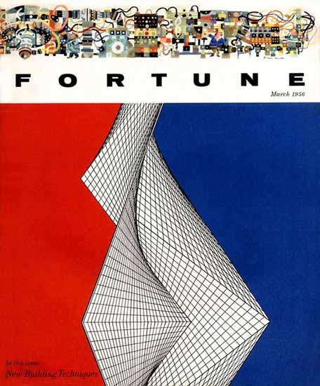 Walter Allner Fortune Magazine March 1956 Copyright   Fortune Magazine Graphic Art Covers 1930-1959