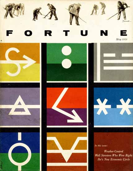Walter Allner Fortune Magazine May 1958 Copyright | Fortune Magazine Graphic Art Covers 1930-1959