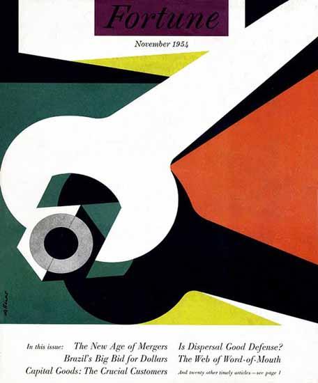 Walter Allner Fortune Magazine November 1954 Copyright   Fortune Magazine Graphic Art Covers 1930-1959