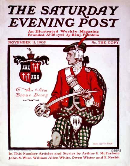 Walter Appleton Clark Saturday Evening Post Cover Art 1905_11_11 | The Saturday Evening Post Graphic Art Covers 1892-1930