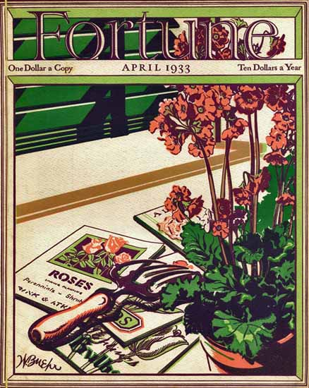 Walter Buehr Fortune Magazine April 1933 Copyright | Fortune Magazine Graphic Art Covers 1930-1959