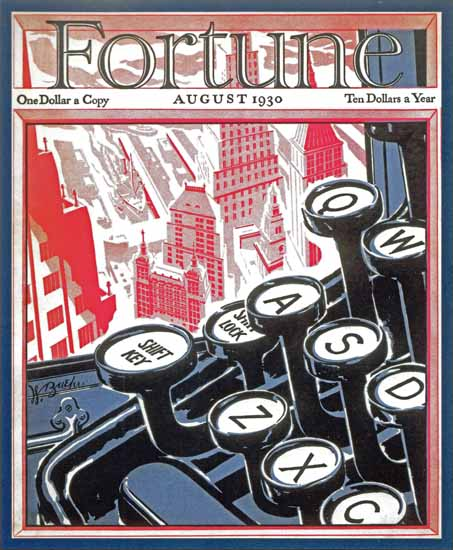 Walter Buehr Fortune Magazine August 1930 Copyright | Fortune Magazine Graphic Art Covers 1930-1959
