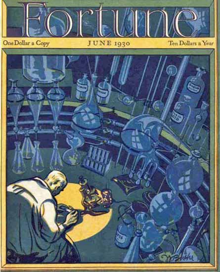 Walter Buehr Fortune Magazine June 1930 Copyright | Fortune Magazine Graphic Art Covers 1930-1959