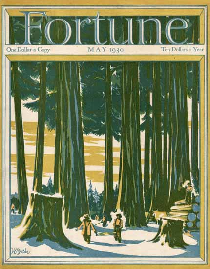 Walter Buehr Fortune Magazine May 1930 Copyright   Fortune Magazine Graphic Art Covers 1930-1959