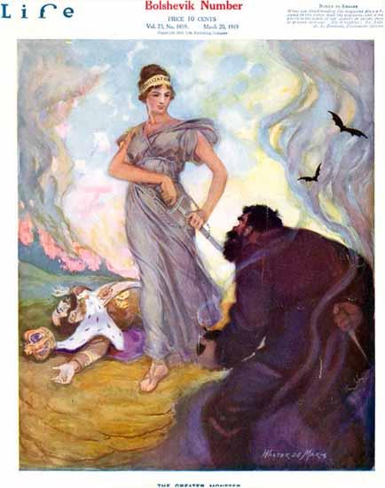 Walter DeMaris Life Humor Magazine 1919-03-20 Copyright | Life Magazine Graphic Art Covers 1891-1936