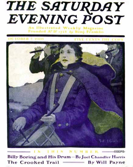 Walter H Everett Saturday Evening Post Cover 1905_10_07   The Saturday Evening Post Graphic Art Covers 1892-1930