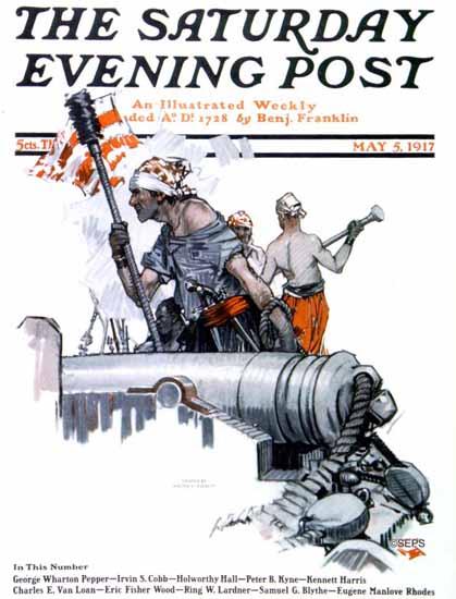 Walter H EverettSaturday Evening Post Cover Art 1917_05_05 | The Saturday Evening Post Graphic Art Covers 1892-1930