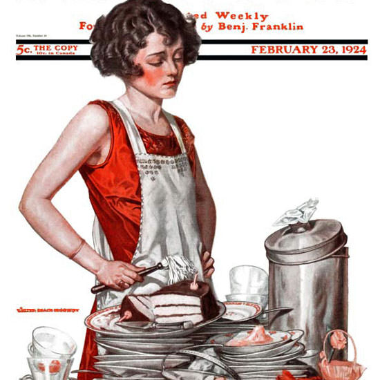 Walter Humphrey Saturday Evening Post 1924_02_23 Copyright crop | Best of 1920s Ad and Cover Art