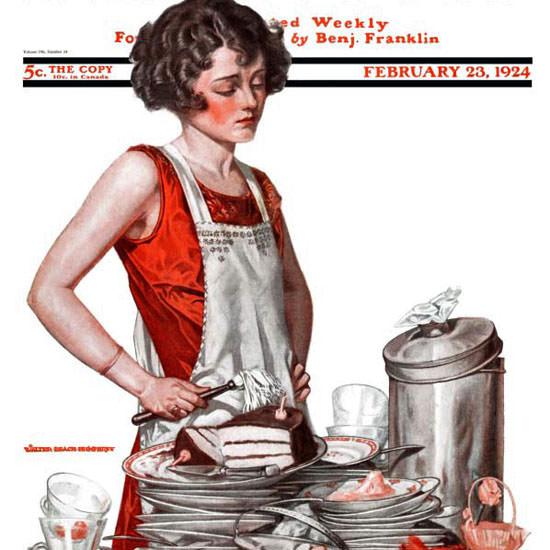 Walter Humphrey Saturday Evening Post 1924_02_23 Copyright crop | Best of Vintage Cover Art 1900-1970