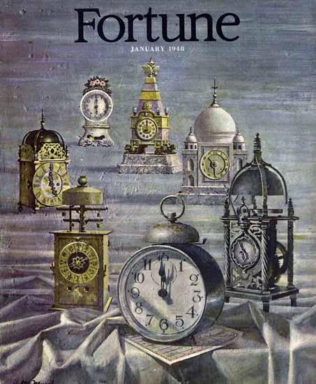 Walter Murch Fortune Magazine January 1948 Copyright | Fortune Magazine Graphic Art Covers 1930-1959