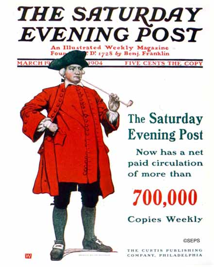 Walter Whitehead Saturday Evening Post Cover 1904_03_19 | The Saturday Evening Post Graphic Art Covers 1892-1930
