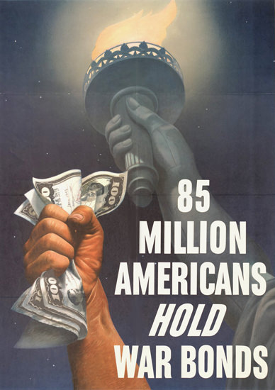 War Bonds 85 Million Americans Hold | Vintage War Propaganda Posters 1891-1970
