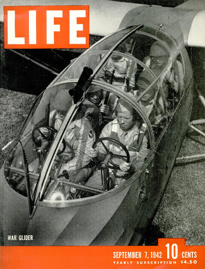 War Glider 7 Sep 1942 Copyright Life Magazine | Life Magazine BW Photo Covers 1936-1970