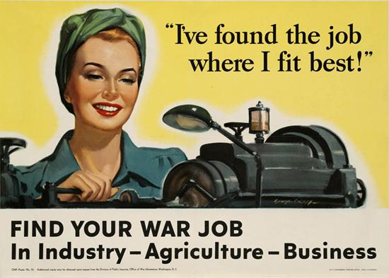 War Job Ive Found The Job Where I Fit Best | Vintage War Propaganda Posters 1891-1970