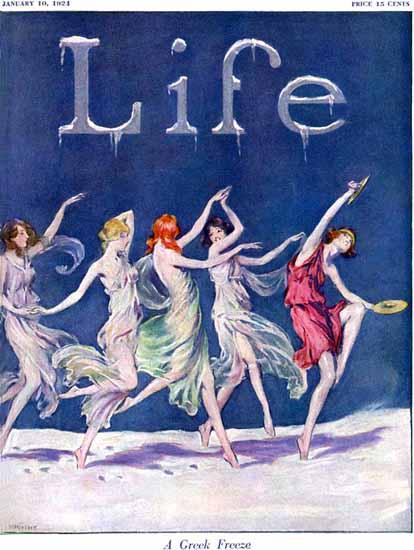 Warren Davis Life Humor Magazine 1924-01-10 Copyright | Life Magazine Graphic Art Covers 1891-1936